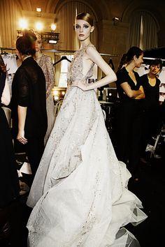 Backstage Elie Saab Haute Couture Winter 2013