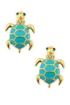 Enamel Turtle Earrings