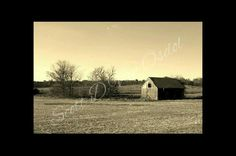 Lonely Weathered Barn In Harvested Corn Field by MySalvagedPast