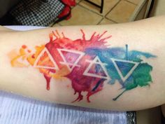 Watercolour Elements - April @ Rebellion Tattoo in Langley BC - Imgur