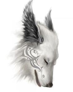 wolf/tattoo