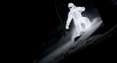 L.E.D. Surfer – Snowboarding in Complete Darkness