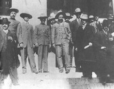 Pancho Villa and Manuel Chao (to Villa's right) in Chihuahua.