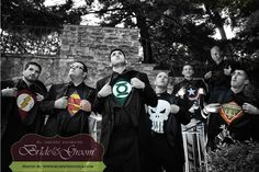 We LOVE this Superhero Tux photo by RossWeddings.com! Brides and Grooms - This is great Rochester Wedding NY Photography!