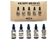 The Be Happy Mini Box Set - A selection of Essential Oil products for men and women. Essential Oil Gift Box