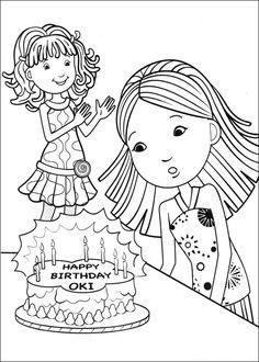 Groovy Girls Målarbilder för barn. Teckningar online till skriv ut. Nº 27