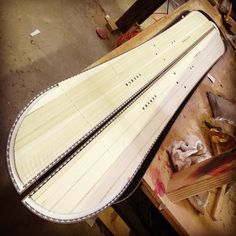 Splitboard layup, getting ready for the press!  OZ Snowboards, carbon fiber,made in colorado, wood veneer, light weight