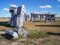 "Carhenge Nebraska US ""There is more than a passing resemblance to Stonehenge and it's pretty photogenic too."""