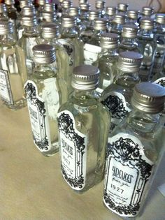 What a fun party favor these would make for a speakeasy or prohibition party.