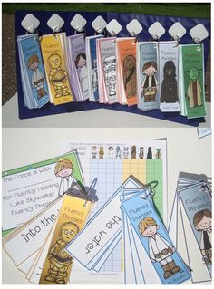 Fluency #2: This is a cool way for students to have learn phrases. They're flip books in the theme of Star Wars, and they each have different phrases the students can learn and become more familiar with.