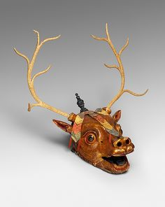 Stag mask. Date: late 19th or early 20th century. Culture: Tibet