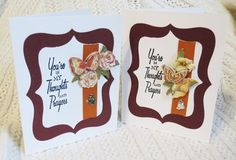 #Handmade Thinking of Your #Cards Se of Two in #Autumn Hues | #luvncrafts - #Cards on #ArtFire