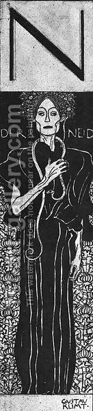 Gustav Klimt:Drawing for Two Emblems for Ver Sacrum (Der Neid)  1898
