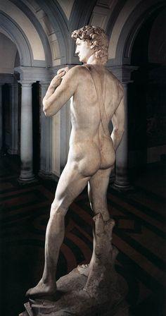 МИКЕЛАНДЖЕЛО. Давид. 1504 Мрамор. Галерея Академии, Флоренция