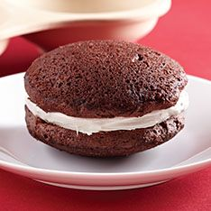 The Pampered Chef whoopie pies in the microwave.  Just 1 or 2 at a time.