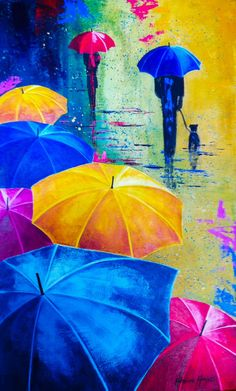 30 ideas canvas art painting abstract colour for 2019 Umbrella Painting, Umbrella Art, Acrylic Painting Canvas, Canvas Art, Painting Abstract, Art Drawings Beautiful, Bright Art, Pastel Art, Painting & Drawing