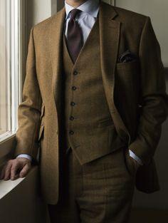 Three-Piece Tweed Suit