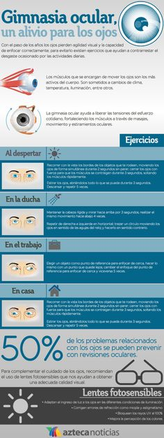 Gimnasia ocular. www.farmaciafrancesa.com