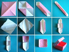 origami box-I've tried origami and I always ended up with just a folded piece of paper...that resembles nothing but a folded piece of paper:) hopefully I can follow this and make something cute!