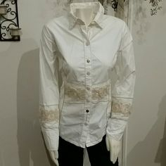 Dismero Blouse Made in Italy. Beautiful details. Runs a bit large, has some stretch. Dismero  Tops Blouses