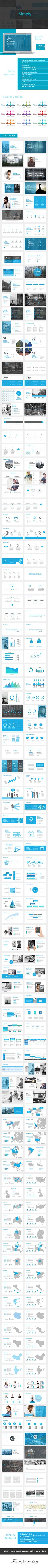 Simply Business Powerpoint Presentation Template  #simple #tech #marketing • Click here to download ! http://graphicriver.net/item/simply-business-powerpoint-presentation-template/16182501?ref=pxcr
