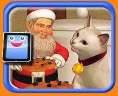 Santa's Kitty Cat - 25 Piece Online jigsaw puzzle for kids