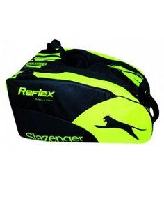 Paletero Slazenger Reflex Yellow Paletero de gran capacidad, resistente y cómodo. Cuanta con bolsillos exteriores para tus objetos personales.