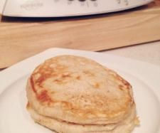 Recipe Banana & Cinnamon Pancakes by learn to make this recipe easily in your kitchen machine and discover other Thermomix recipes in Basics. Thermomix Pancakes, Thermomix Bread, Lunch Box Recipes, Breakfast Recipes, Lunchbox Ideas, Buttermilk Pancakes, Banana Pancakes, Biscuit Bread, Banana Cinnamon