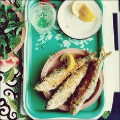 Stuffed Fried Sardines - Tapas on Food & Wine Tapas Recipes, Sangria Recipes, Fish Recipes, Seafood Recipes, Great Recipes, Favorite Recipes, Party Recipes, Tapas Ideas, Dessert Recipes