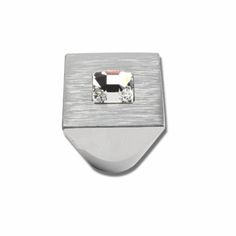 Atlas Homewares Pave & Crystal Collection Square Centered Crystal Cabinet Knob