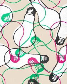 """Light Bulbs"" - canvas wall art at Wheatpaste Art Collective"