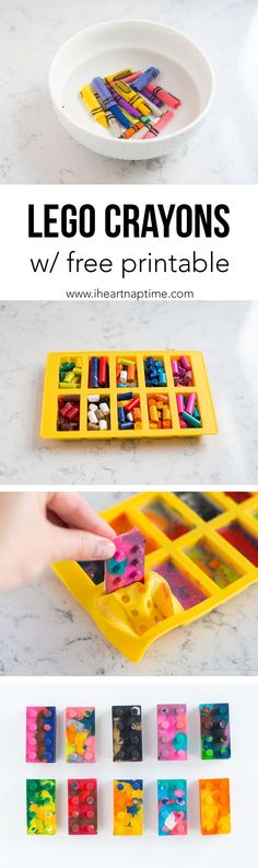 How to EASILY remove paper wrappers from crayons and bake them into different shaped mold ... this is so simple that it's sort of genius!