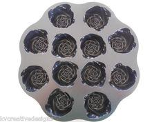 William Sonoma Nordic Ware Cast Aluminum Sweetheart Rose Mini Cake Mold Pan New