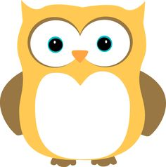 Yellow and Brown Owl Clip Art Image - yellow owl with brown wings. Owl Wings, Cartoon Butterfly, Owl Clip Art, Birthday Charts, Classroom Projects, Cute Owl, School Gifts, Yellow And Brown, Animal Drawings