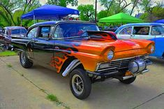 This is a suitable variety of a Ford Classic Cars, Ford Fairlane, Vintage Race Car, Drag Cars, Drag Racing, Auto Racing, Car Humor, Kustom, Ford Trucks