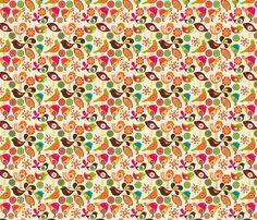 Little Birds fabric by valentinaramos on Spoonflower - custom fabric