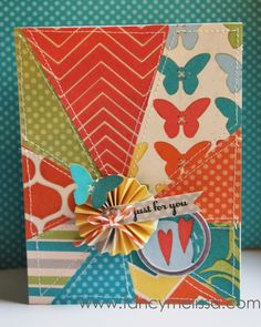 close to my heart Dotty for You Sunburst Card @Kathi Bishop Everett Close To My Heart #ctmh #scrapbook