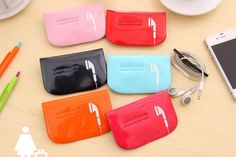 Cheese Cute Colorful Smiling Face Card Holder Organize Coin Purse Case Storage  #EARPHONECASE