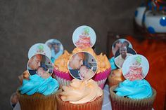 Customized Photo Toppers and CupCakes from CupCake FabuLous birthday cupcak, cupcak fabul, cupcak fun