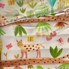 A bit late in the evening but the wildcat is now alive on textiles :) #tigrillo #fabric #textiles #children #homewares #bedding for @heimtextil #frankfurt Jan10-13