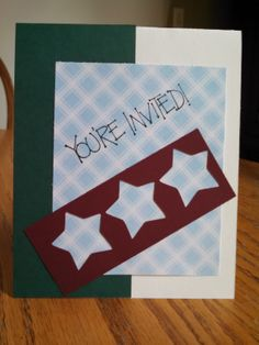 Homemade Invite card