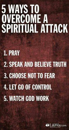 Pray, speak and believe truth.