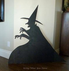Full size witch Halloween decoration