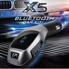 10pcs a lot Wireless FM Transmitter bluetooth Car Kit X5 MP3 Player Handsfree Call Radio Modulator