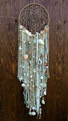 Large Bohemian Dreamcatcher with Ocean Shells by HansyandRay