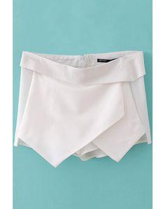 LUCLUC White Callenia Viscose Trendy Shorts - LUCLUC
