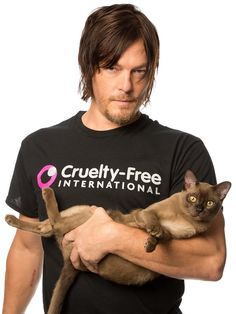 The Walking Dead star Norman Reedus joins Cruelty Free International call for global ban on animal tests for cosmetics
