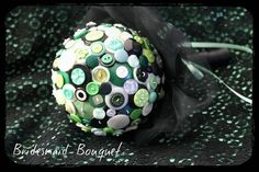 Button bouquet made for my Maid of Honour for my wedding