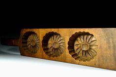 Japanese Kashigata - Japanese Mum Design - Antique Kashigata Sweets Mold by JapaVintage on Etsy