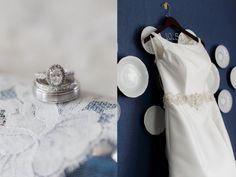 Rings & Dress. Planner: Cherry Blossom Events // Photographer: Alisandra Photography.
